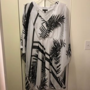Black and White Tropical Summer Dress